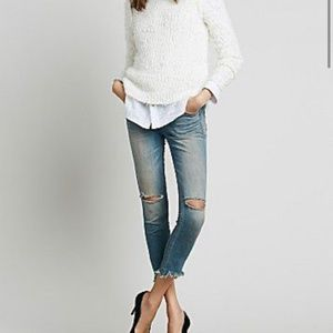 Free People Destroyed Ankle Jeans